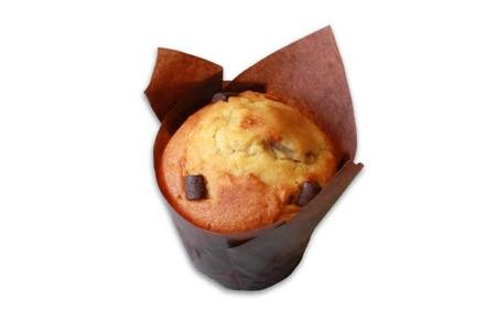 muffin de banana com pedaco